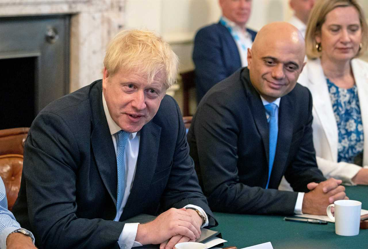 Boris Johnson is in isolation after coming into close contact with Health Sec Mr Javid
